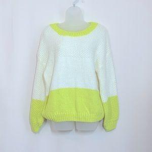 ELODIE - Colorblock Chunky Knit Sweater